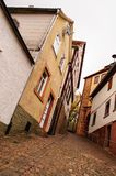 A rua estreita de Gelnhausen Imagem de Stock Royalty Free