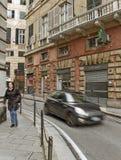Rua estreita de Genoa Imagem de Stock Royalty Free