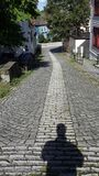 Rua estreita em Bergen noruega imagens de stock royalty free