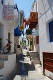 Rua estreita, Nisyros fotografia de stock royalty free