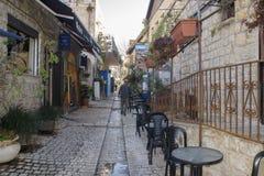 Rua estreita Tzfat (Safed) israel foto de stock royalty free