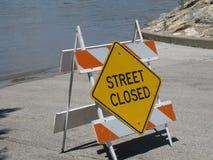 Rua fechada fotografia de stock
