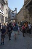 Rua grandioso, Mont Saint Michel, França Imagem de Stock Royalty Free
