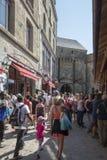 Rua grandioso, Mont Saint Michel, França Imagem de Stock