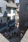 Rua grandioso, Mont Saint Michel, França Fotos de Stock