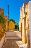 Rua grega Imagens de Stock Royalty Free