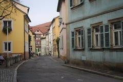 Rua histórica de Bamberga fotos de stock