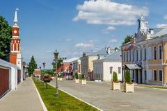 Rua histórica de Kolomna, Rússia imagens de stock royalty free