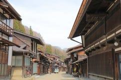 Rua histórica Nagano Japão da casa de Naraijyuku Fotos de Stock Royalty Free