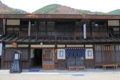 Rua histórica Nagano Japão da casa de Naraijyuku Imagem de Stock Royalty Free