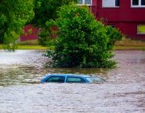 Rua inundada Fotografia de Stock