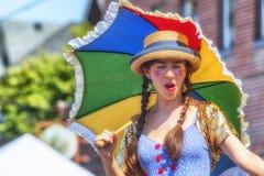 Rua justa, Portland do espinho, Oregon, acontecimento anual da comunidade fotografia de stock