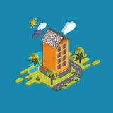 Rua lisa da paisagem infographic Imagens de Stock Royalty Free