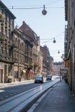 Rua local na capital de Zagreb de croatia imagem de stock royalty free