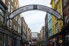 Rua Londres de Carnaby Fotografia de Stock Royalty Free