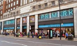 Rua Londres de Oxford da loja de Primark Foto de Stock Royalty Free