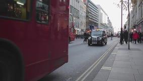 Rua Londres de Oxford video estoque
