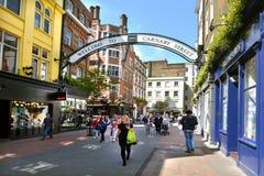 Rua Londres Reino Unido de Carnaby Foto de Stock