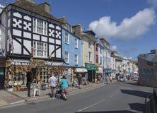 Rua média Brixham Torbay Devon Endland Reino Unido Fotografia de Stock