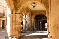Rua medieval de Santiago de Compostela Fotografia de Stock Royalty Free