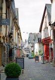 Rua medieval, Vitré, Brittany imagens de stock royalty free