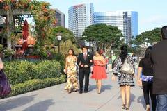 Rua movimentada em San Diego, Califórnia Fotos de Stock Royalty Free