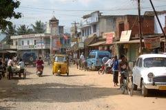 Rua movimentada na Índia fotografia de stock royalty free