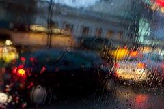 Rua na chuva Fotos de Stock Royalty Free