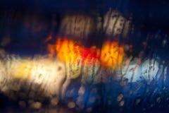Rua na chuva Fotografia de Stock