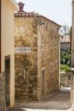 Rua na cidade de Motovun Fotos de Stock