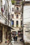 Rua na cidade de pedra, Zanzibar fotos de stock royalty free