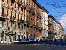 Rua na cidade de Roma Imagem de Stock Royalty Free
