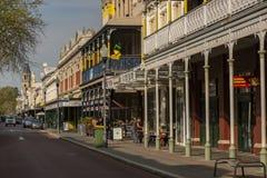 Rua na cidade de West Australian de Fremantle fotografia de stock