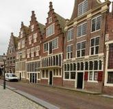 Rua na cidade do porto de Hoorn, Países Baixos Imagem de Stock Royalty Free