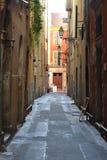 Rua na cidade velha agradável fotografia de stock royalty free