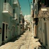 Rua na cidade velha da cidade de Kalamata, Messenia, Grécia Fotos de Stock