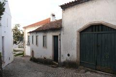 Rua na cidade velha de Ourem Foto de Stock