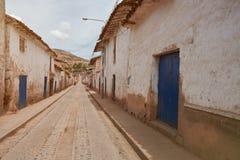 Rua na cidade velha de peru Imagem de Stock Royalty Free