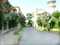 Rua na ilha de Buyukada Fotografia de Stock Royalty Free