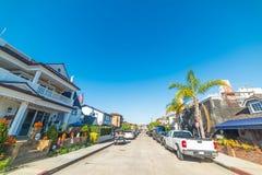 Rua na ilha do balboa Foto de Stock Royalty Free