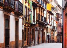 Rua na parte histórica de Oviedo Imagem de Stock