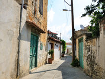 Rua na vila de Chipre Fotos de Stock