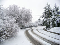 Rua nevado Foto de Stock Royalty Free