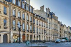 Rua no Bordéus, França foto de stock