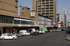 Rua no CBD em Joanesburgo imagem de stock royalty free