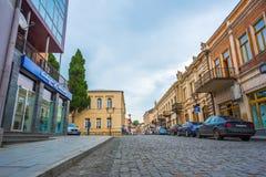 Rua no centro da cidade de Kutaisi Imagem de Stock Royalty Free