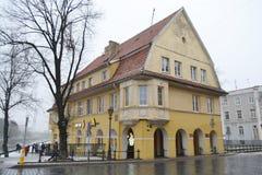 Rua no centro de Klaipeda Imagem de Stock Royalty Free