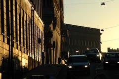 Rua no crepúsculo Fotos de Stock