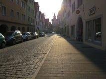 Rua no der Tauber do ob de Rothenburg Fotos de Stock Royalty Free
