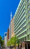 Rua no distrito financeiro central de Sydney, Austrália fotos de stock